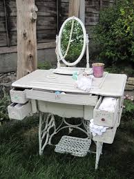 Shabby Chic French Antique Sewing Machine Dressing Table with ...