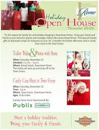 christmas open house flyer downtown holiday open house candy cane hunt rome downtown