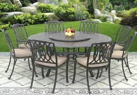 outdoor round table cast aluminum outdoor patio set 8 dining chairs inch round table lazy su