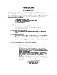 Law School Case Brief Template Study Dissertation Outline Apa