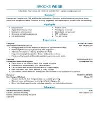 Caregiver Sample Resume Resume for Caregiver Of Elderly Danayaus 36