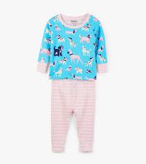 Hatley Baby Size Chart Playful Pooches Organic Cotton Baby Pajama Set