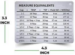Magnetic Kitchen Conversion Chart Professional Measurement