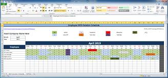 schedules template in excel free employee and shift schedule templates