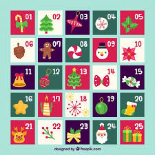 christmas calendar background. Wonderful Background Flat Advent Calendar On A Turquoise Background Free Vector With Christmas Calendar Background L