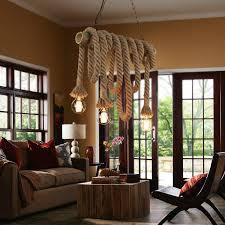 Loft <b>American Country Vintage</b> Rope Bamboo Pendant Lights E27 ...