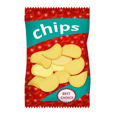 bag of potato chips clipart. Delighful Clipart Chips With Red Caviar Packaging Design Illustration Intended Bag Of Potato Clipart S
