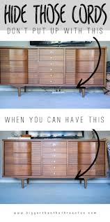 10 Stylish Ways to Hide Unsightly Cords and Wires In Your Home - Hide TV  Wires