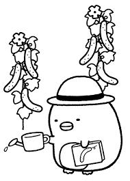 塗り絵 無料 キャラクター すみっこぐらし Saruwakakun