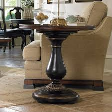 round pedestal end table img
