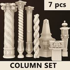 Thermocol Pillar Design Columns 7 Set 3d Dxf Pillar Design Columns Decor Cornice