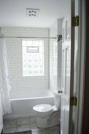 glass block bathroom window white subway tile gray grout glass block window white bathroom glass block