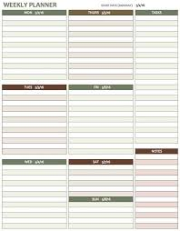 Week Planner With Times Free Weekly Schedule Templates For Excel Smartsheet