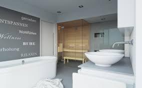 Saunas in bathrooms