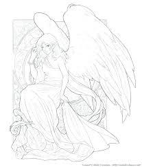 Girl Angel Coloring Pages Homelandsecuritynews