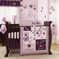 bedroom fascinating purple crib bedding set with erfly motif baby girl crib bedding sets