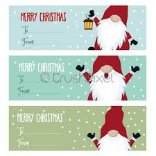 Stock Vector Cute Flat Design Christmas Labels Collection With Gnomes