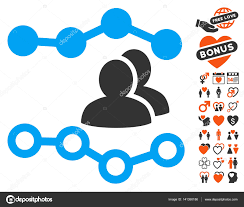 People Charts Icon With Lovely Bonus Stock Vector