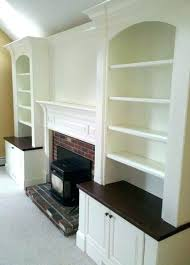 built in bookshelves around fireplace fireplace
