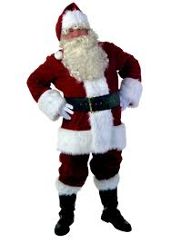 Redhead in santa suit