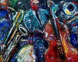 abstract jazz art painting by debra hurd