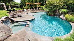 inground pools with waterfalls and hot tubs. Waterfalls And Hot Tubs Pool Waterfall Grotto Outdoor Kitchen Tub Backyard Beach Entry Nj Company Debuts Inground Pools With H