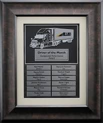 Employee Of The Month Photo Frame Truck Driver Of The Month Plaque Truck Driver Perpetual Plaques