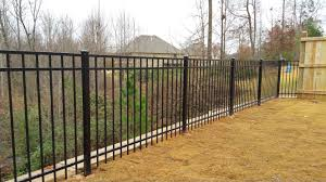 Metal Fence 3 rail aluminum fence fenceworks Metal Fence F Nongzico