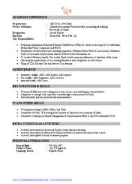 Best Chartered Accountant Resume Sample Doc With Experience (1 ...