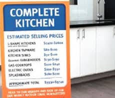 Cheap Kitchens Left Center
