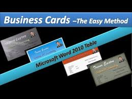 make business card in word business card make business cards microsoft word 2010 tables
