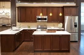 natural walnut kitchen cabinets dark cabinet ideas metal knobs turquoise tile backsplash design white varnished wooden wall mounted cabinet