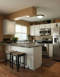 Really Small Kitchen Naturally Brown Finishing Small Kitchen Apartment Wooden Wall