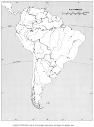 Latin America Outline Maps Blank Political Map Of Latin America And Travel Information