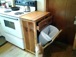 wood trash bin how to build a wooden can holder for kitchen best tilt out cabinet kitchen garbage cans