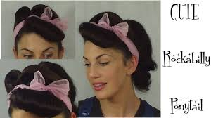 Pin Ups Hair Style how to rockabilly ponytail retro vintage pinup hairstyle 2354 by wearticles.com