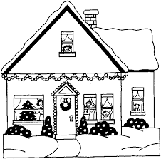 christmas house coloring pages. Unique Christmas Snowy Christmas House  Free To Print And Colour In Inside Coloring Pages