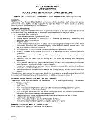 Police Officer Job Description For Resume Police Officer Job Resume Description Template Examples Duties Jd 68