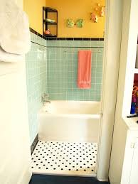 1940 Bathroom Design Amazing Kristen And Paul's 48s Style Aqua And Black Tile Bathroom Built