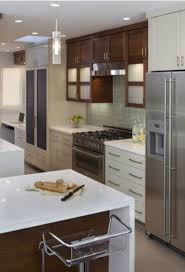 Kitchen Style Simplifying Remodeling Two Tone Cabinet Finishes Double Kitchen Style