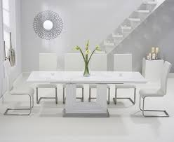 tula 160cm white high gloss extending dining table with malaga intended for high gloss extending dining