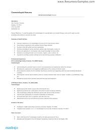 Cosmetology Resume Examples Inspiration Cosmetologist Resume Examples Newly Licensed Cosmetology Resume
