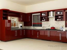 Red And White Kitchens Kitchen Gray Tile Floor Red And White Cabinets Sink Faucet Red
