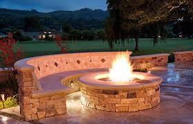 outdoor stone fire pit. Great Stone Fire Pit With Outdoor Pit.