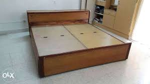 wooden box spring bed frame wood king build size bedrooms fascinating teak double with storage facility enchanting