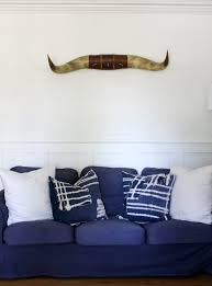 Navy Blue Living Room Beauteous How To Dye A White Ikea Ektorp Sofa Navy Blue The Wicker House