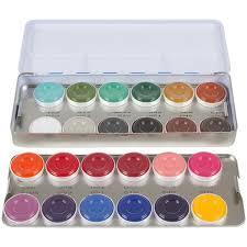 kryolan aquacolor palette ac professional make up