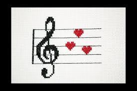 Treble Clef Music Treble Clef Music Love Pdf Cross Stitch Pattern Music Hearts Etsy