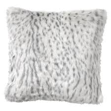 Grey Faux Fur Pillow Covers