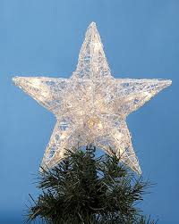 Large Star Tree Topper  Personalized OrnamentChristmas Tree Lighted Star